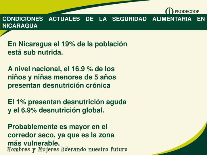 CONDICIONES ACTUALES DE LA SEGURIDAD ALIMENTARIA EN NICARAGUA