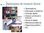 aplica es de impacto social