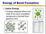 energy of bond formation4