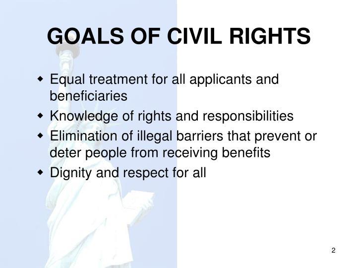 Goals of civil rights