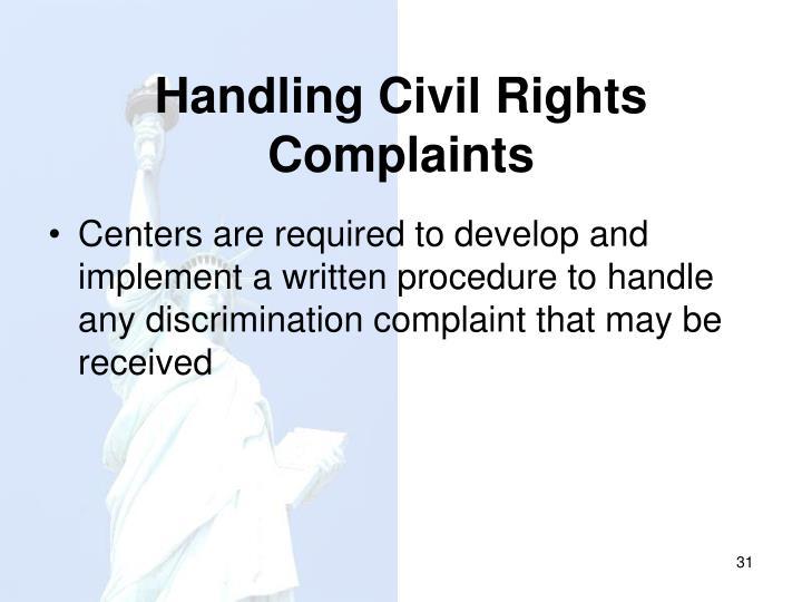 Handling Civil Rights Complaints
