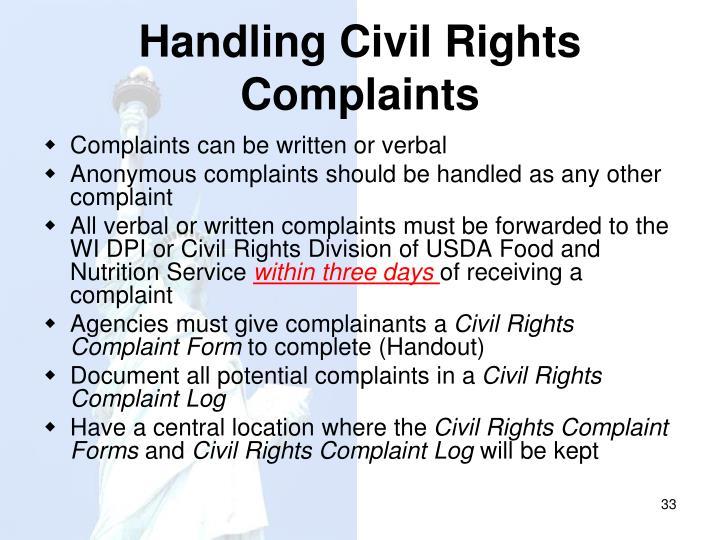 Handling Civil Rights