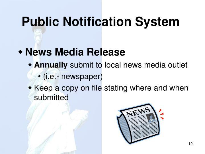 Public Notification System