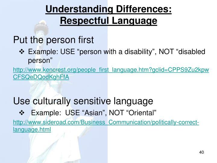 Understanding Differences: