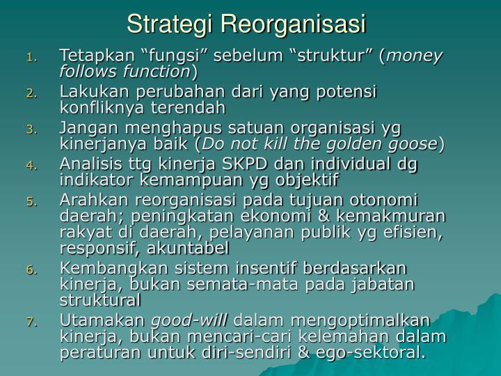 Strategi Reorganisasi