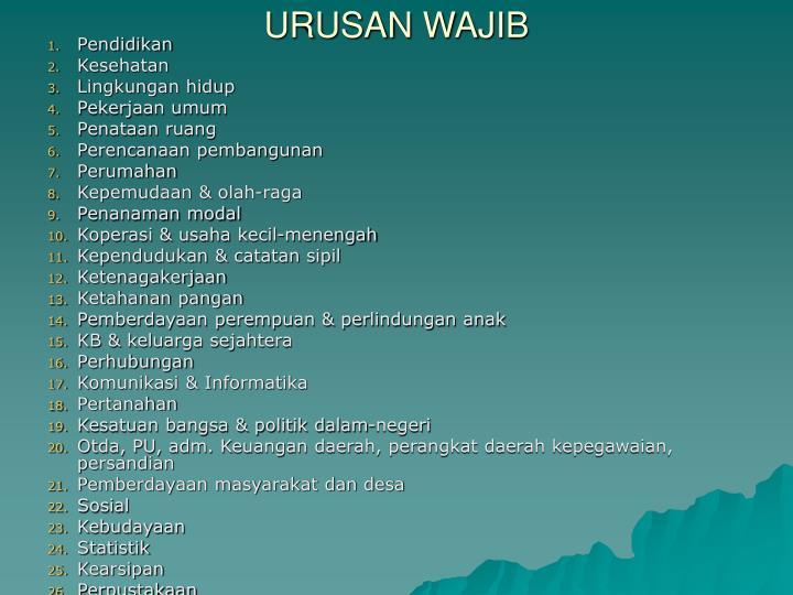 URUSAN WAJIB