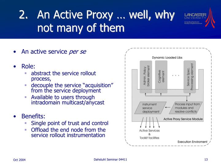 An Active Proxy … well, why not many of them
