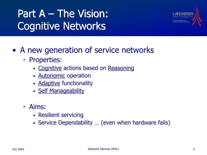 Part a the vision cognitive networks