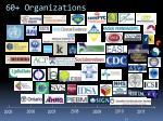 60 organizations