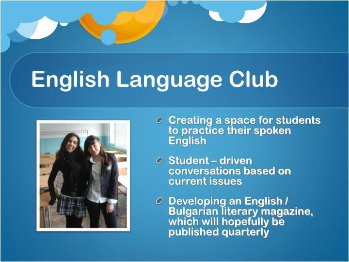 English language club