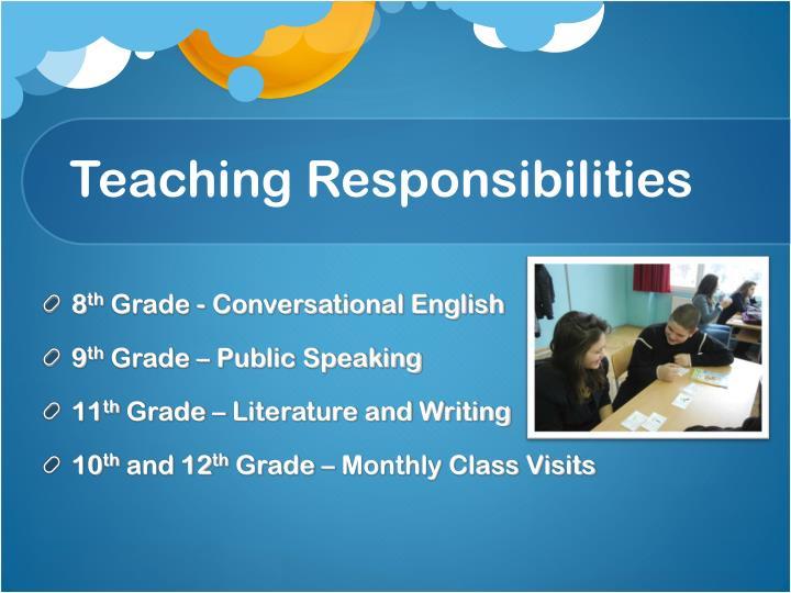 Teaching responsibilities