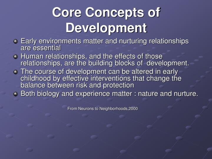 Core Concepts of Development