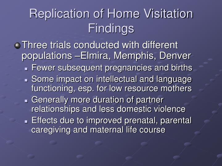 Replication of Home Visitation Findings