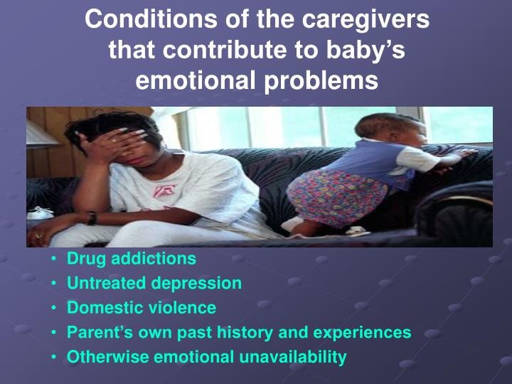 Conditions of the caregivers
