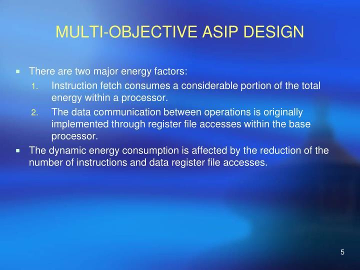 MULTI-OBJECTIVE ASIP DESIGN