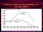 coronary syndromes have exploded since the early 1920 s