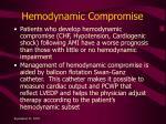 hemodynamic compromise