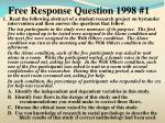 free response question 1998 1