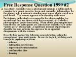 free response question 1999 2