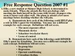 free response question 2007 11