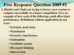 free response question 2009 1