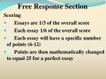 free response section2