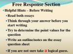 free response section5