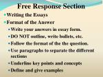 free response section6