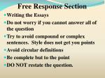 free response section7