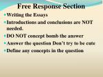 free response section8