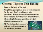 general tips for test taking17