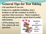 general tips for test taking18
