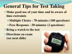 general tips for test taking2