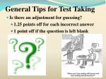 general tips for test taking6
