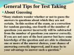 general tips for test taking7