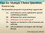 tips for multiple choice questions16