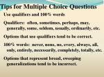 tips for multiple choice questions18