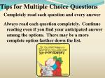 tips for multiple choice questions5