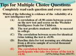 tips for multiple choice questions7