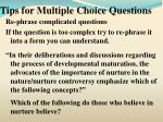 tips for multiple choice questions8