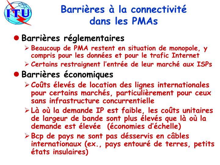 Barrières à la connectivité