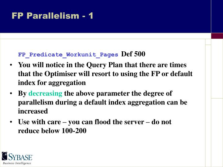 FP Parallelism - 1