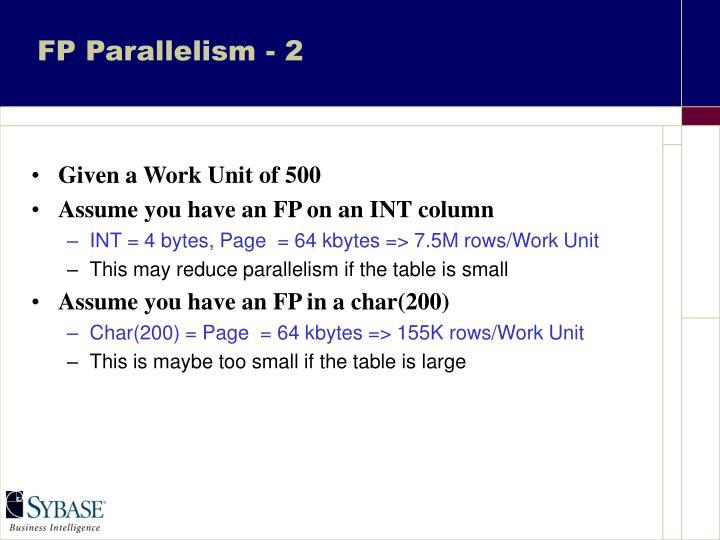 FP Parallelism - 2