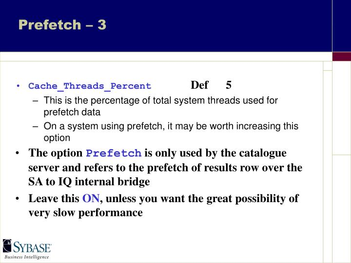 Prefetch – 3