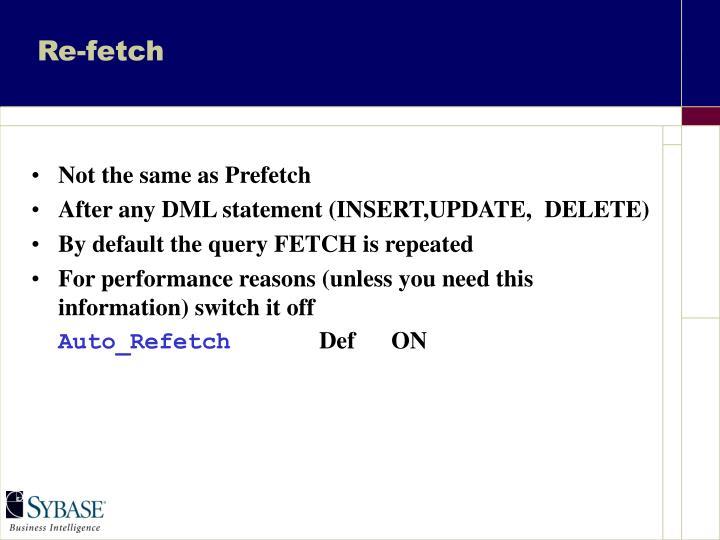 Re-fetch