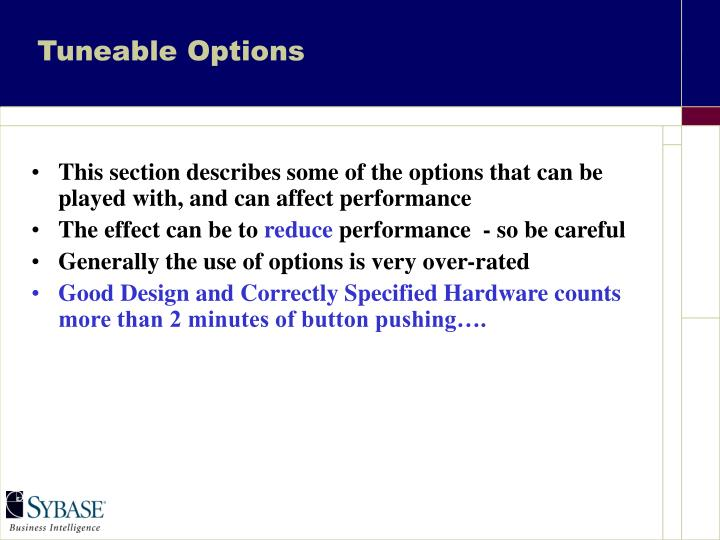 Tuneable options1
