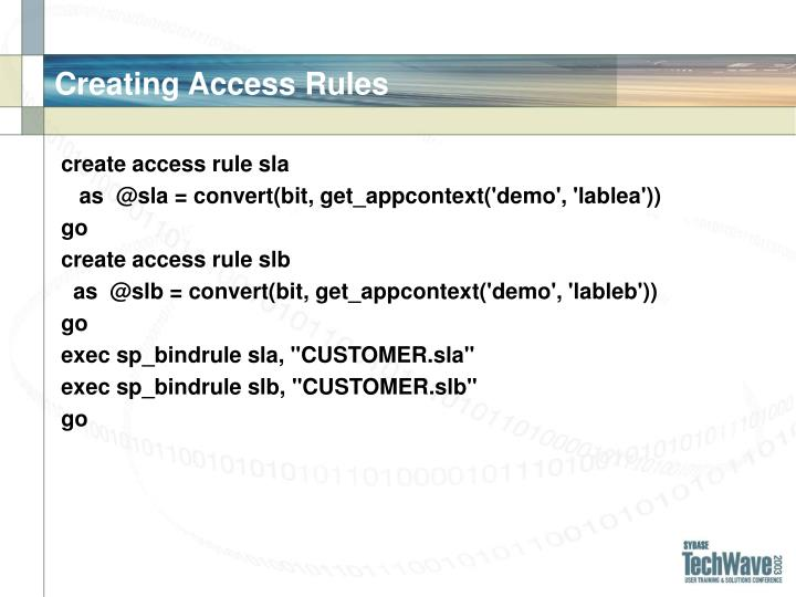 Creating Access Rules