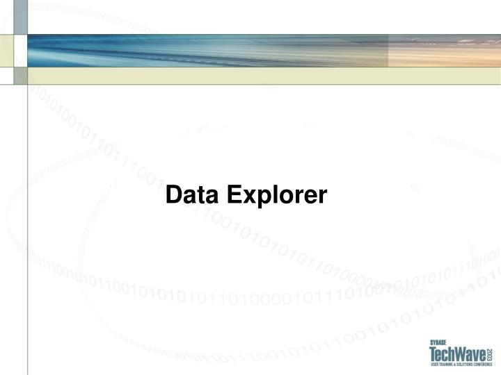 Data Explorer