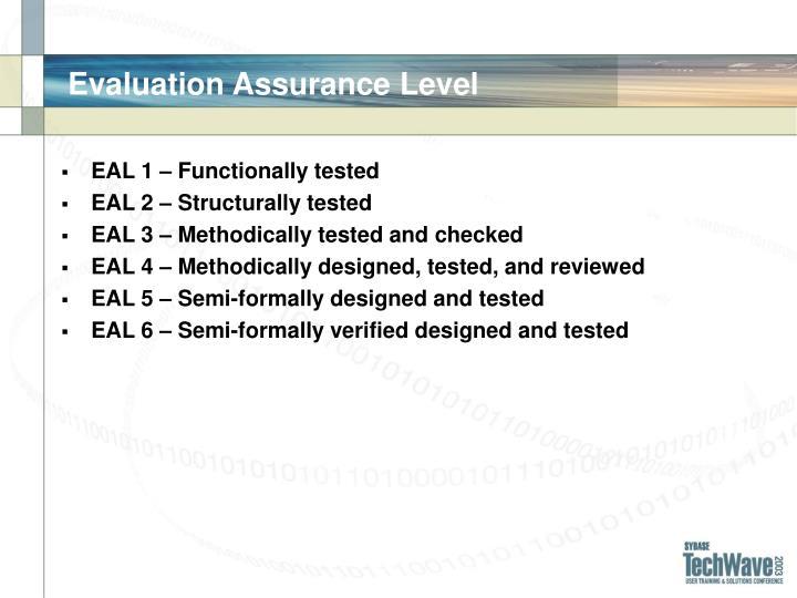 Evaluation Assurance Level