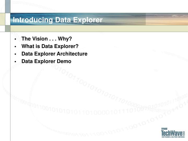 Introducing Data Explorer
